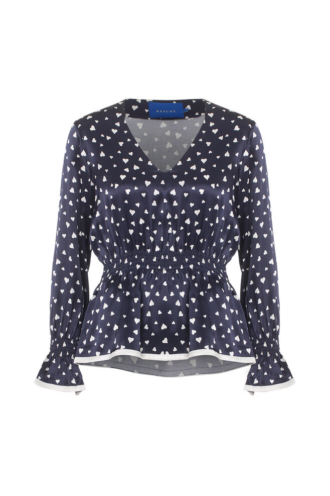 Madison Blouse 03890218, NAVY