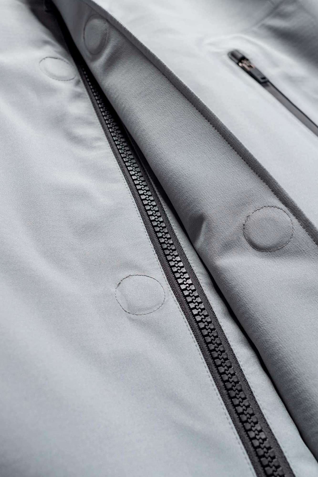 Hooded rain coat QM211, LIGHT GREY