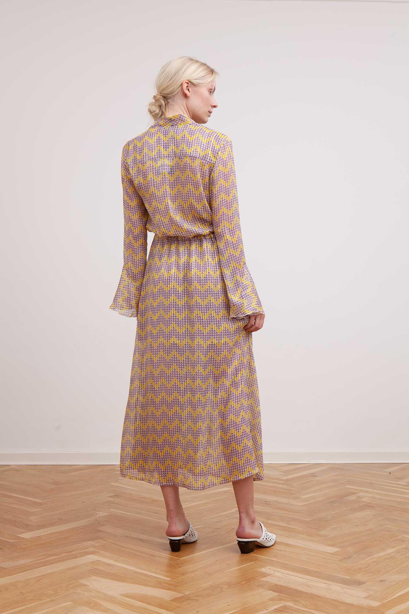 Rillo long dress 3214605, ZIGZAG YELLOW