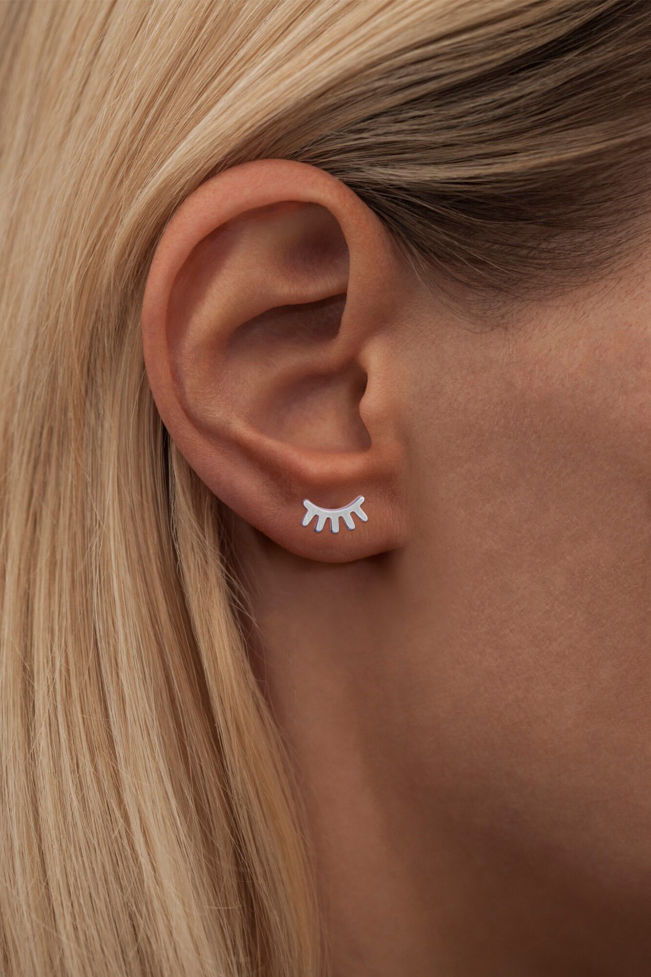 Blink Ear Stud LULUE151, SILVER MATTE