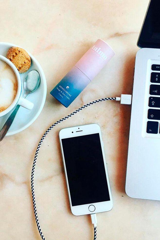 Iphone usb textile connecting, MONOCHROME
