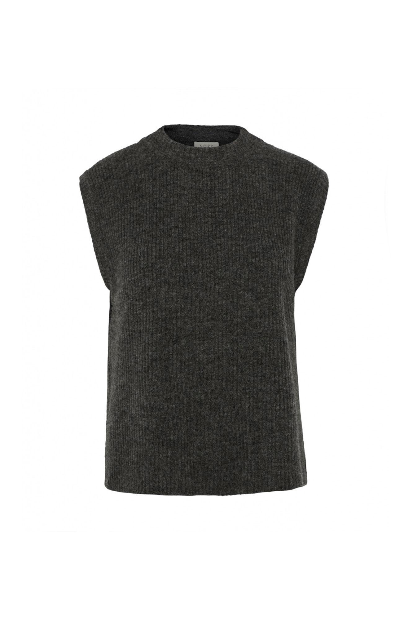 Elisha knit waistcoat 1186136, DARK GREY MELANGE