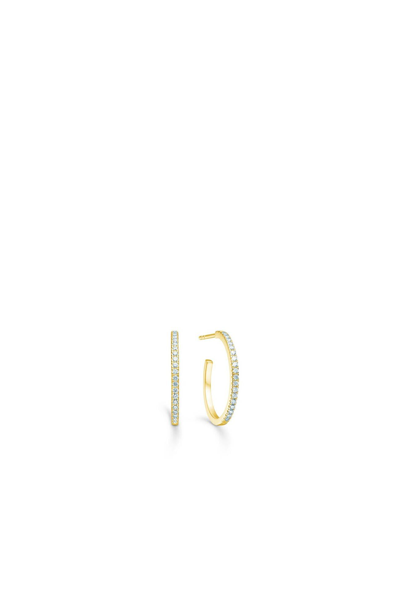Simplicty mini hoops IDE009GH, GOLD/WHITE
