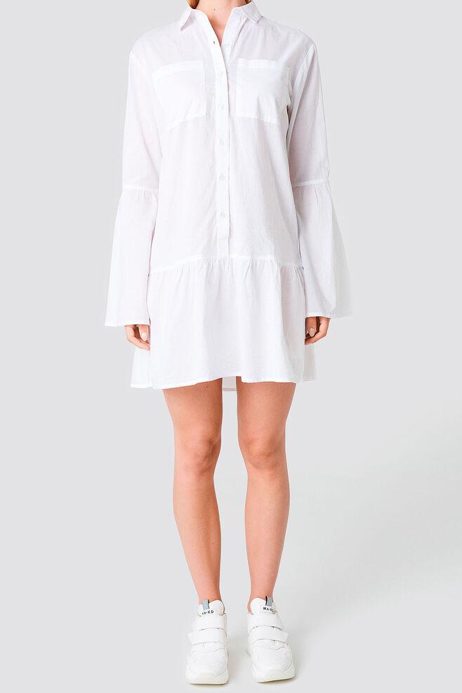 Pocket Shirt Dress 1100-000884, WHITE