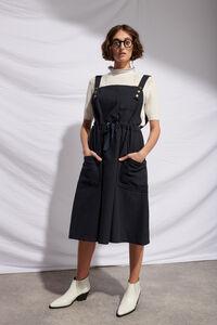 Rafaela apron dress 01086WR, BLACK