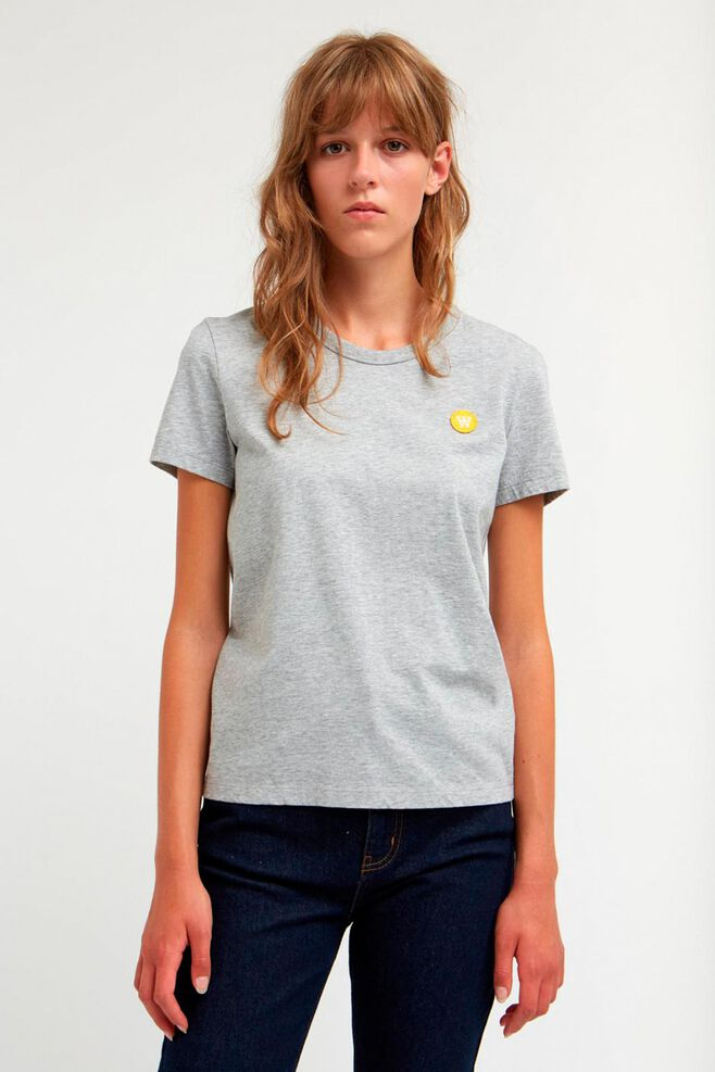 Uma t-shirt 10912502-2222, LIGHT GREY MELANGE