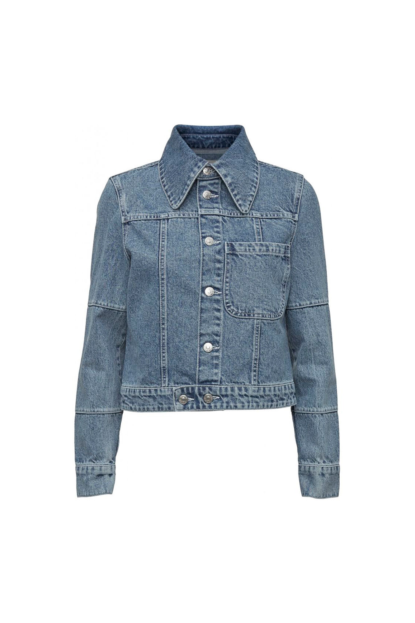 Kada Denim Jacket 11861211, MEDIUM BLUE DENIM