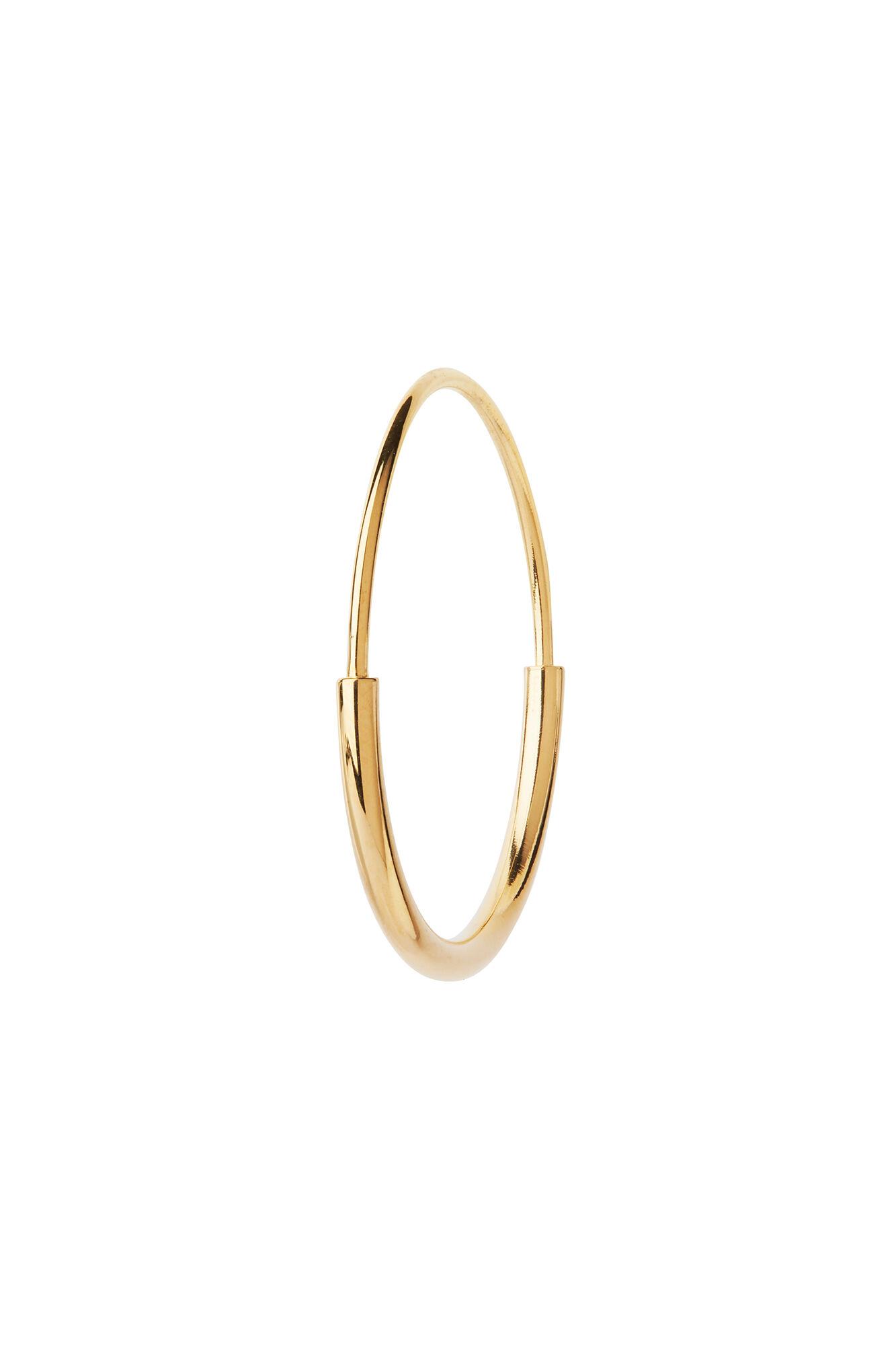 Delicate hoop 22 earring, GOLD