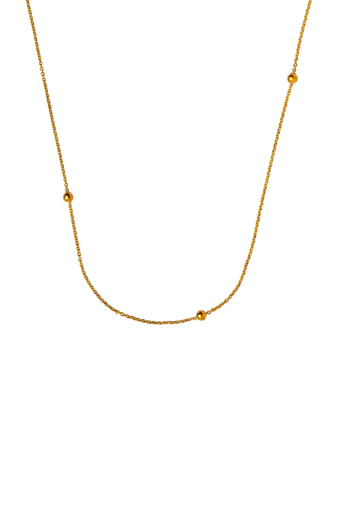 Jupiter Necklace LULUN014, GOLD PLATED