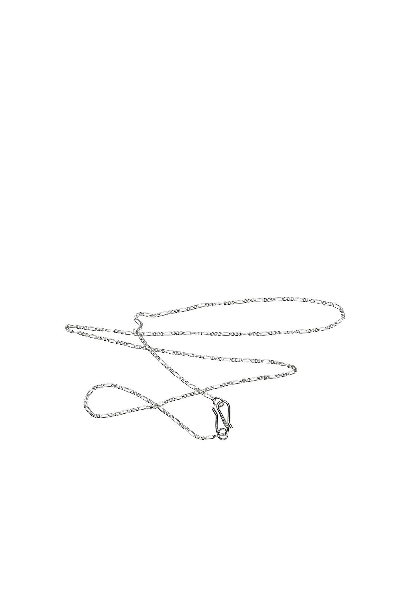 Plain Figaro Chain LULUN35, SILVER