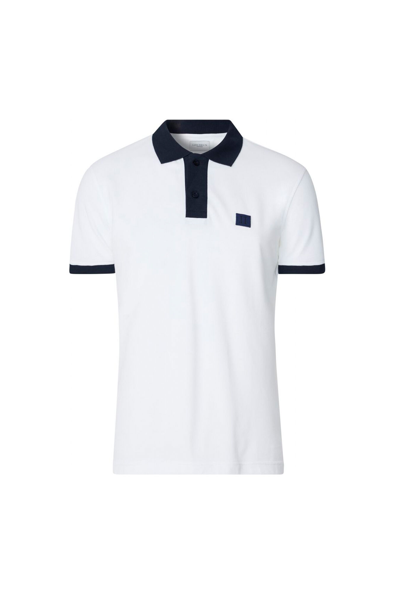Rivierre Polo SS LDM120003, WHITE/NAVY
