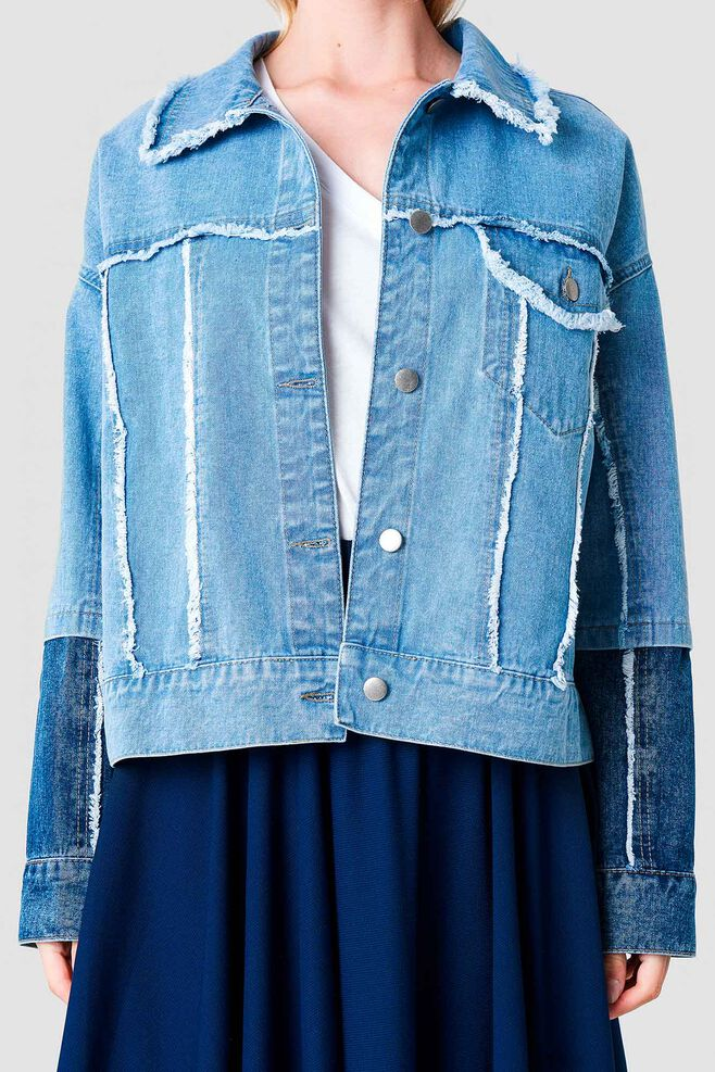 Denim Jacket Two 1100-000895, BLUE