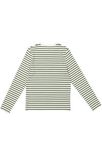 Moa long sleeve 10931506-2323, DARK GREEN/OFF WHITE STRIPE