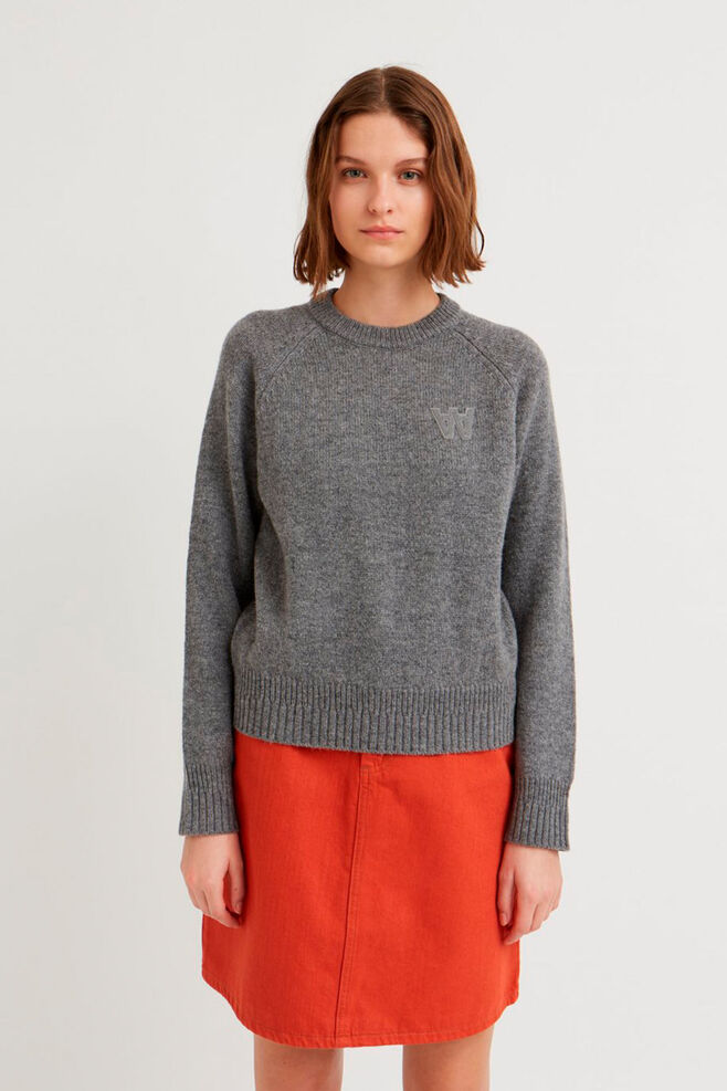 Asta sweater 11931001-4033, GREY MELANGE