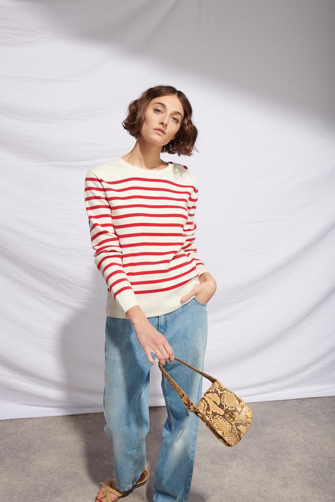 Safia cotton cashmere 01083WS, OFFWHITE RED