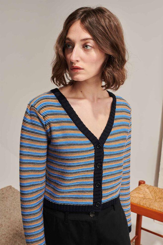 Geraldine archive knit 02163WG, NAVY GROUND
