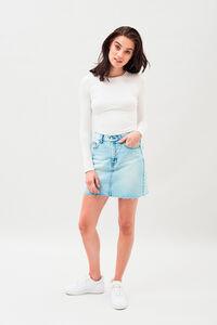 Mallory denim skirt, BLEACHED VINTAGE BLUE