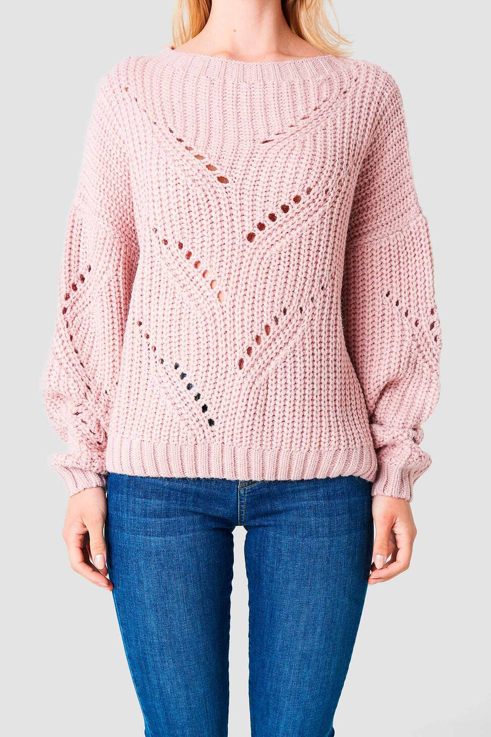 Hole Knit Sweater 1100-000849, PINK