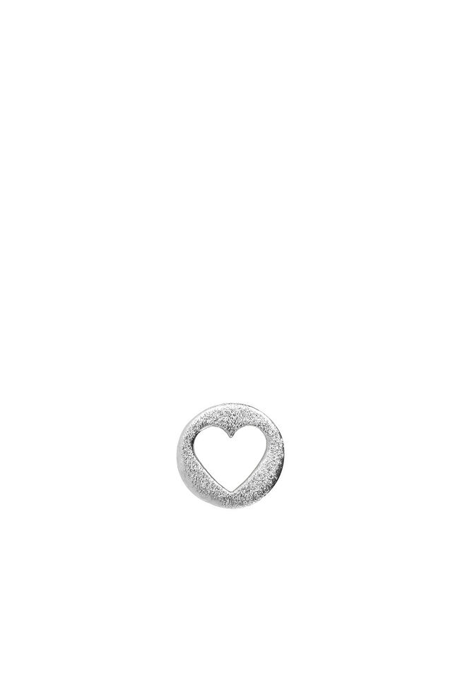Cut Out Heart Ear LULUE200, SILVER
