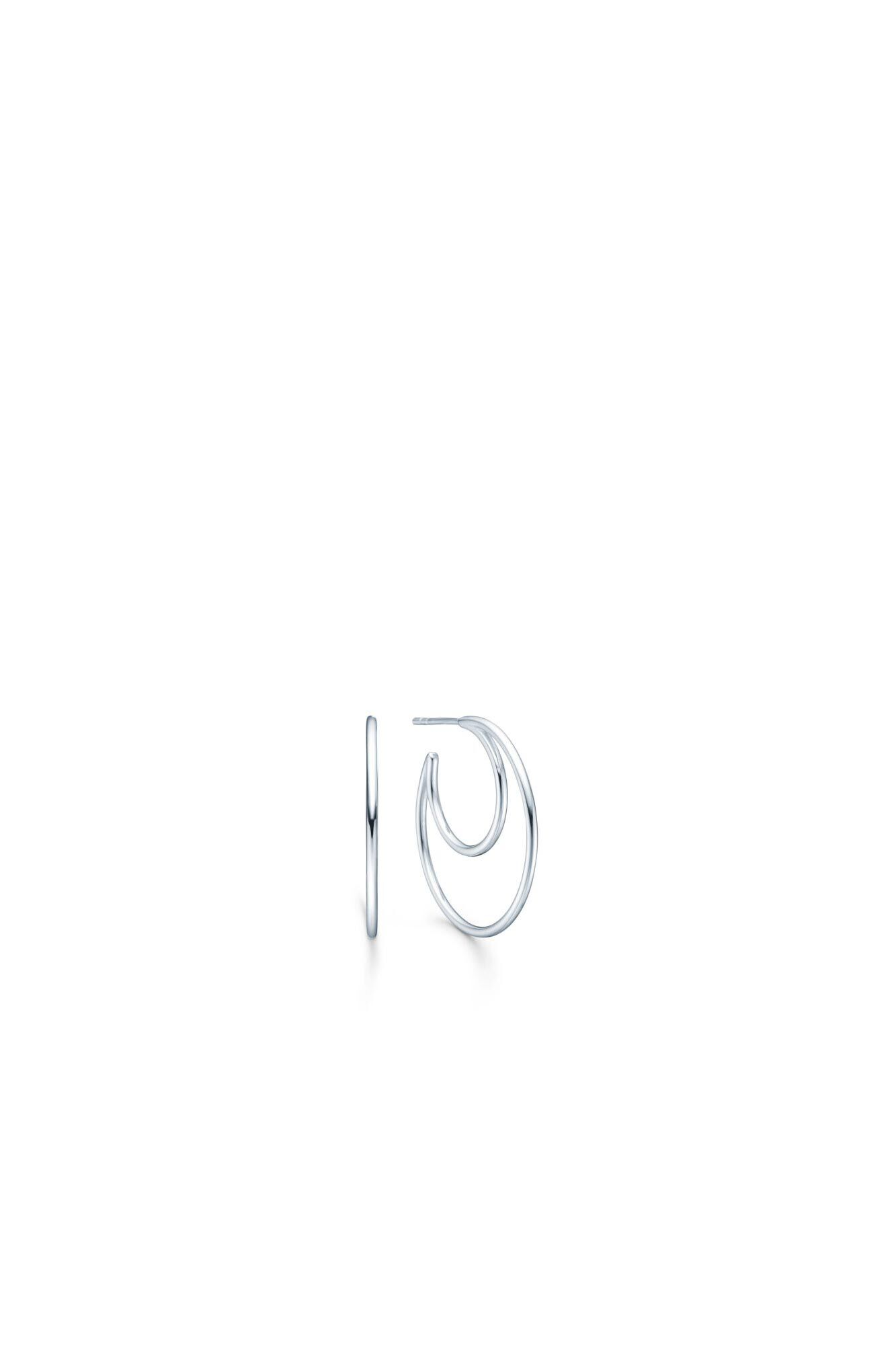 Sphere hoops IDH019RH, RHODIUM