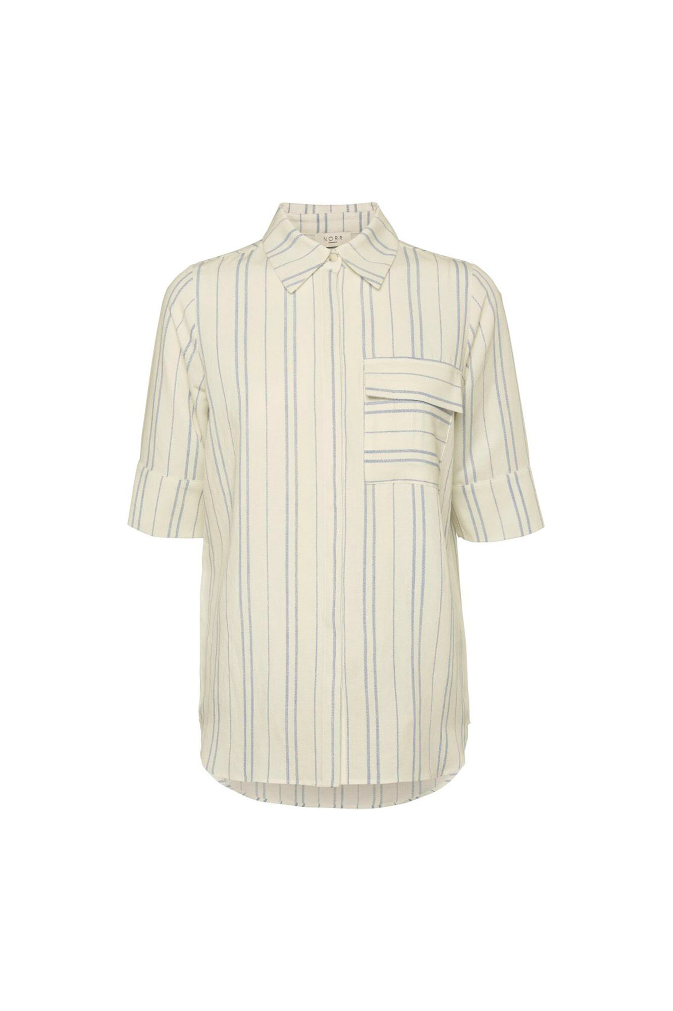 Silverly shirt 11861253, WHITE/BLUE STRIPE