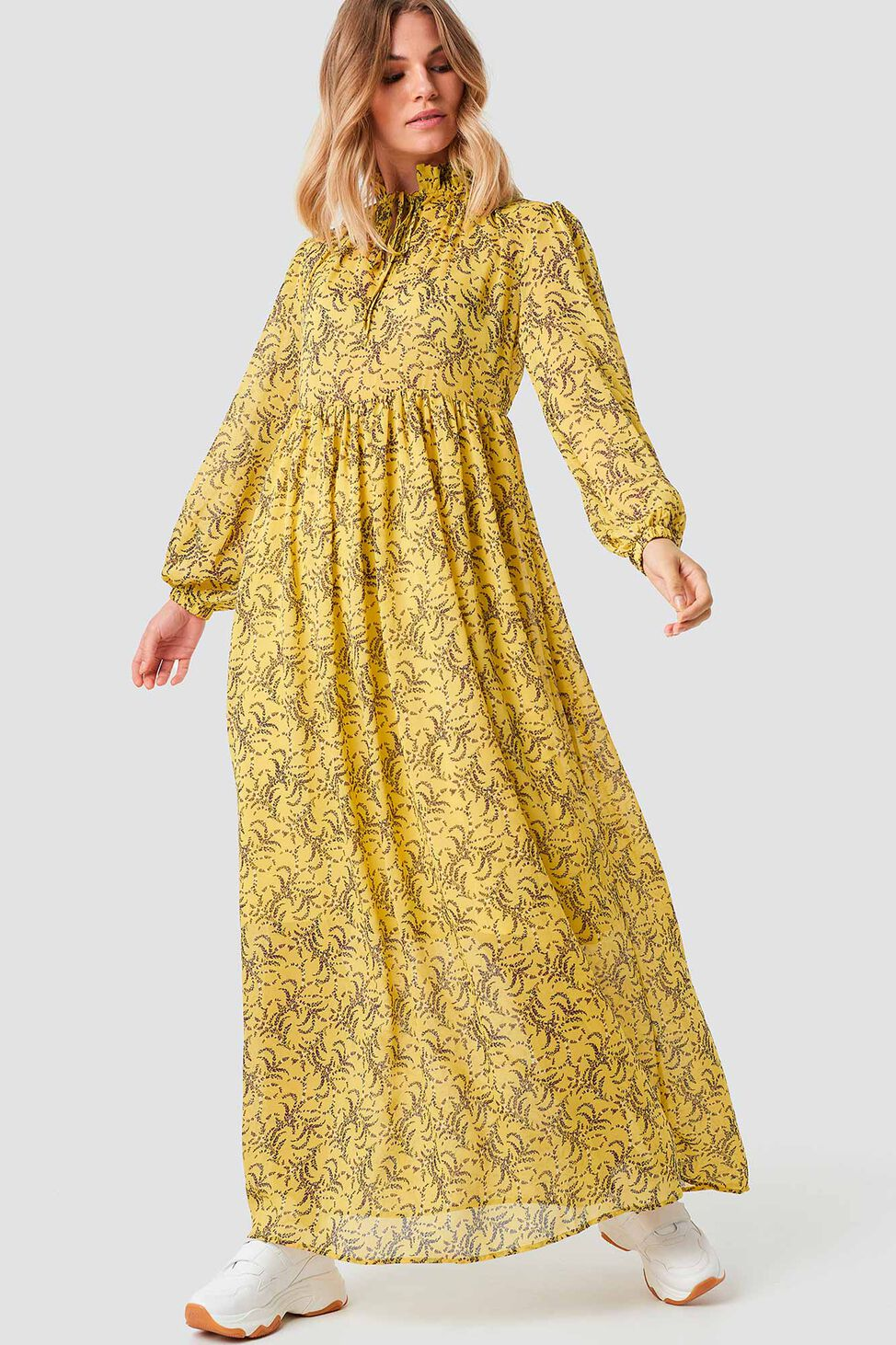 Floral Printed 1100-001248, YELLOW