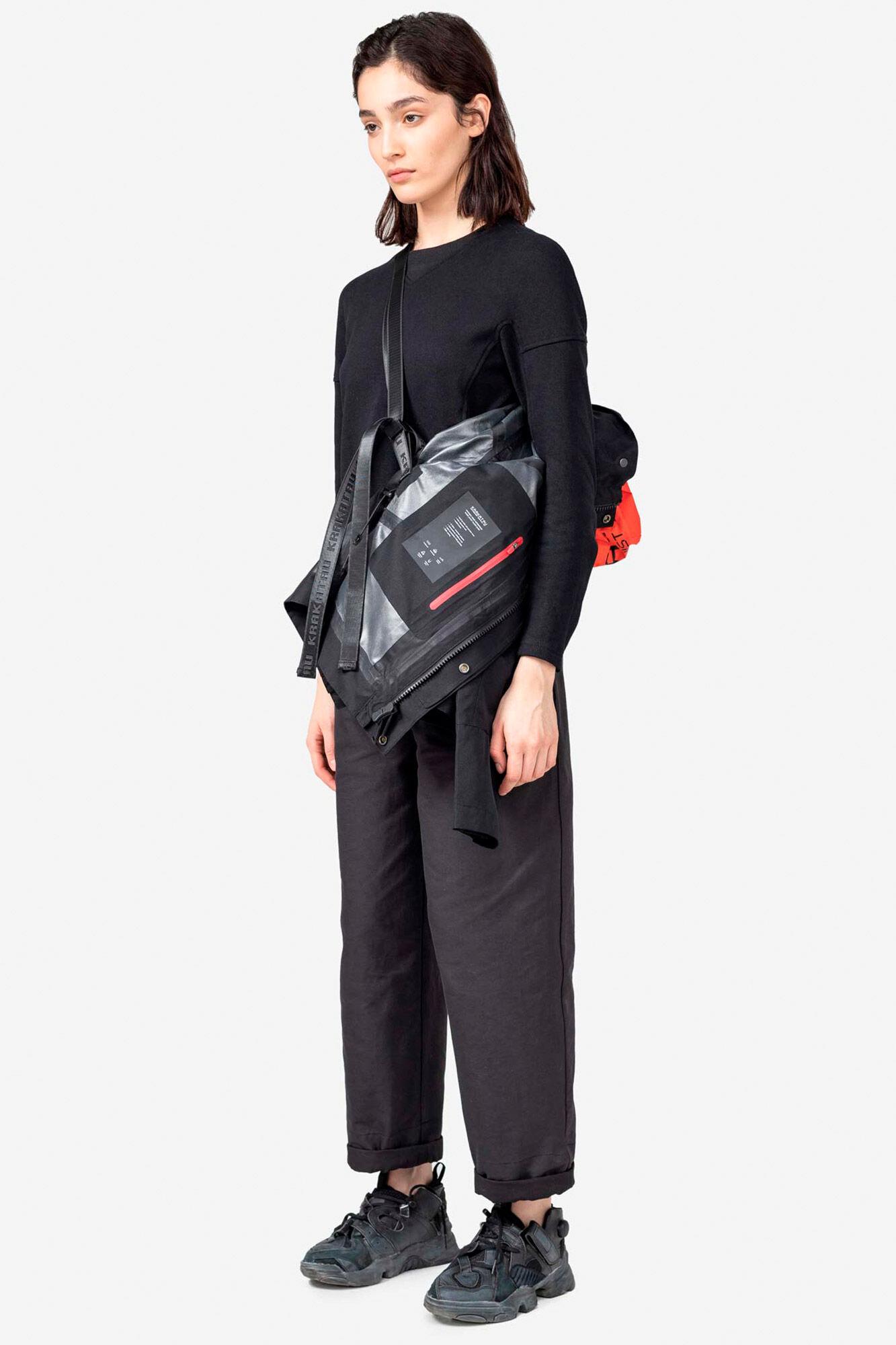 Packable hood waterproof QW203, BLACK