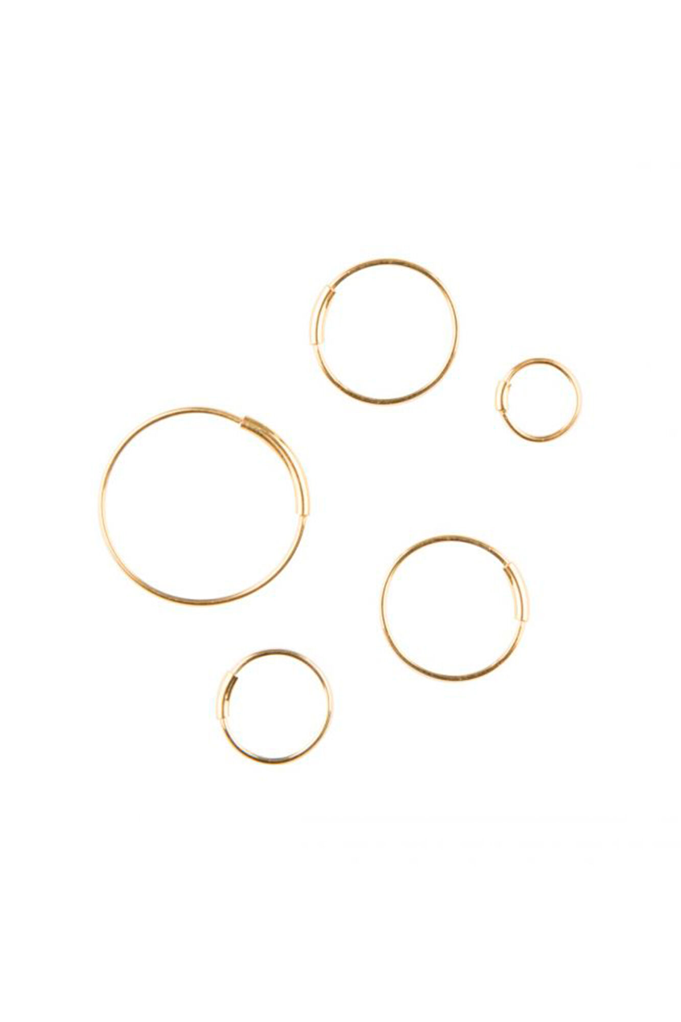 Basic Hoop S Earring 100217, GOLD HP