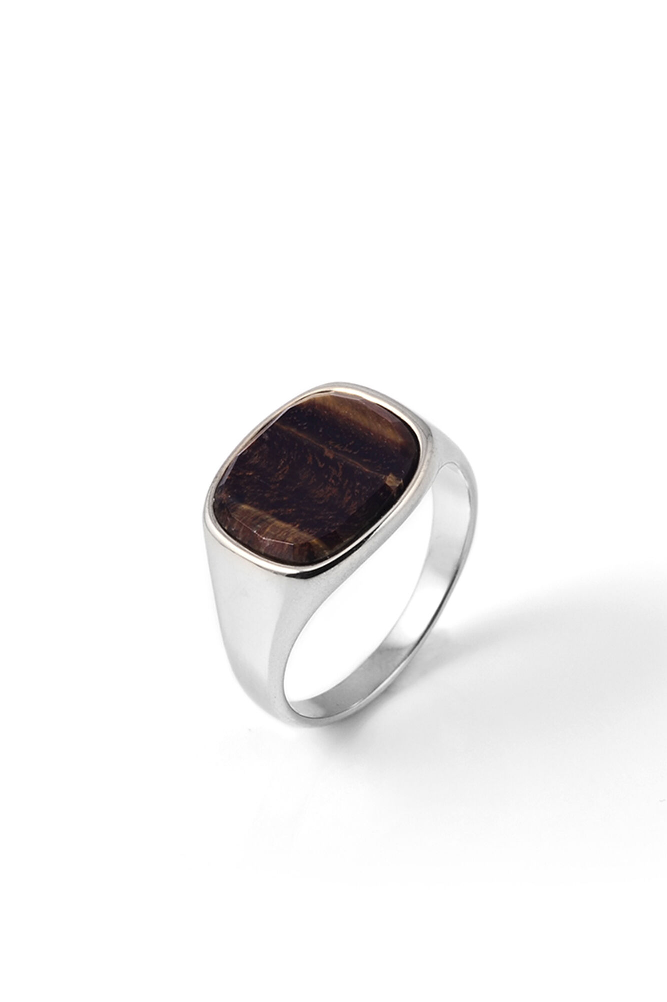 Himsel, SILVER - SQUARE TIGER EYE STON