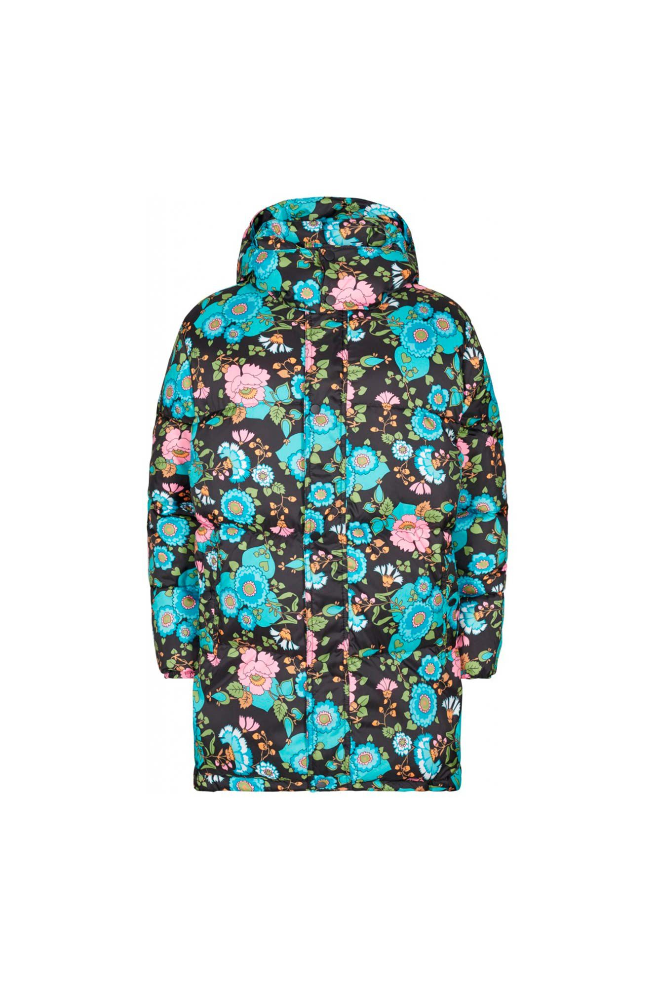 Grow up jacket FA900002-1, BLACK FLOWER