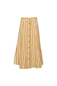 Amira skirt 11861276, GOLDEN BROWN/WHITE STRIPE