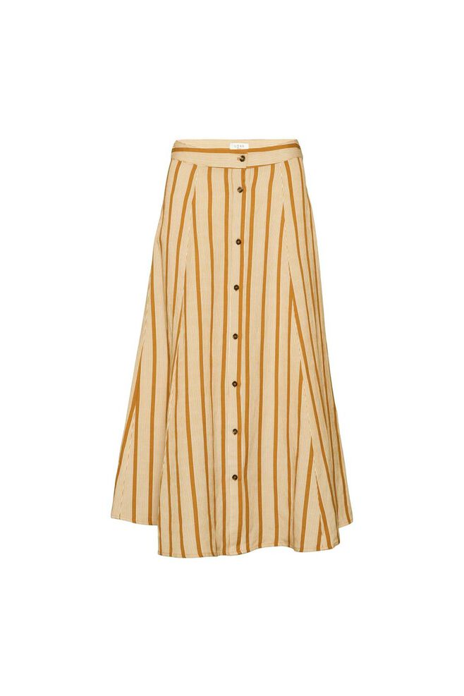 Amira skirt 11861276, GOLDEN BROWN/WHITE STRIPE