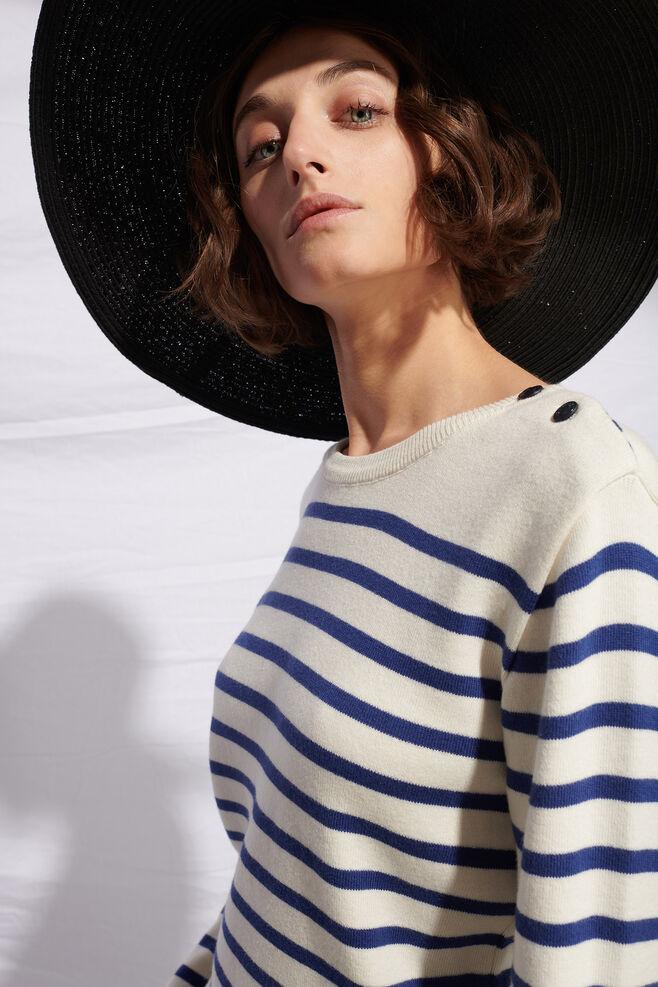 Safia cotton cashmere 01083WS, OFFWHITE/BLUE