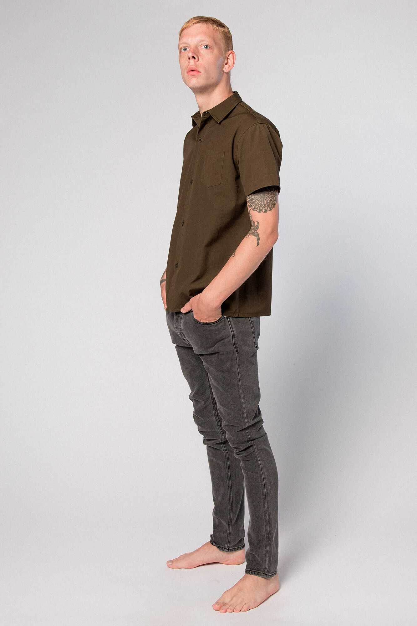 Mist Shirt M-110090, OLIVE CANVAS