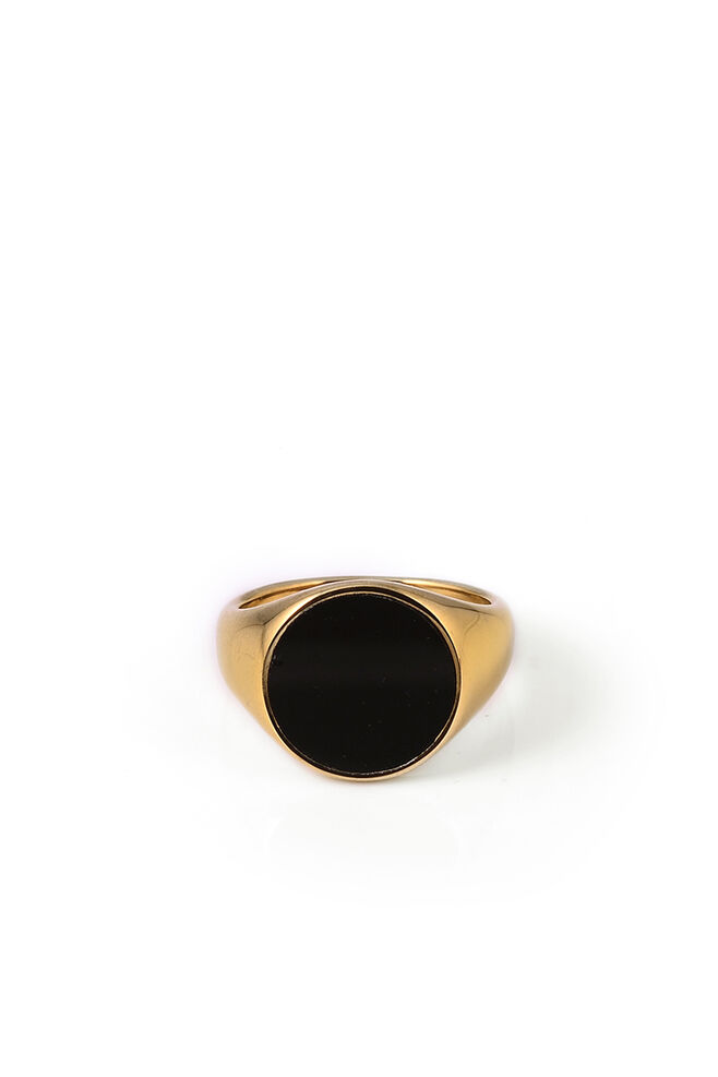 Frode, GOLD - ROUND BLACK ONYX STONE