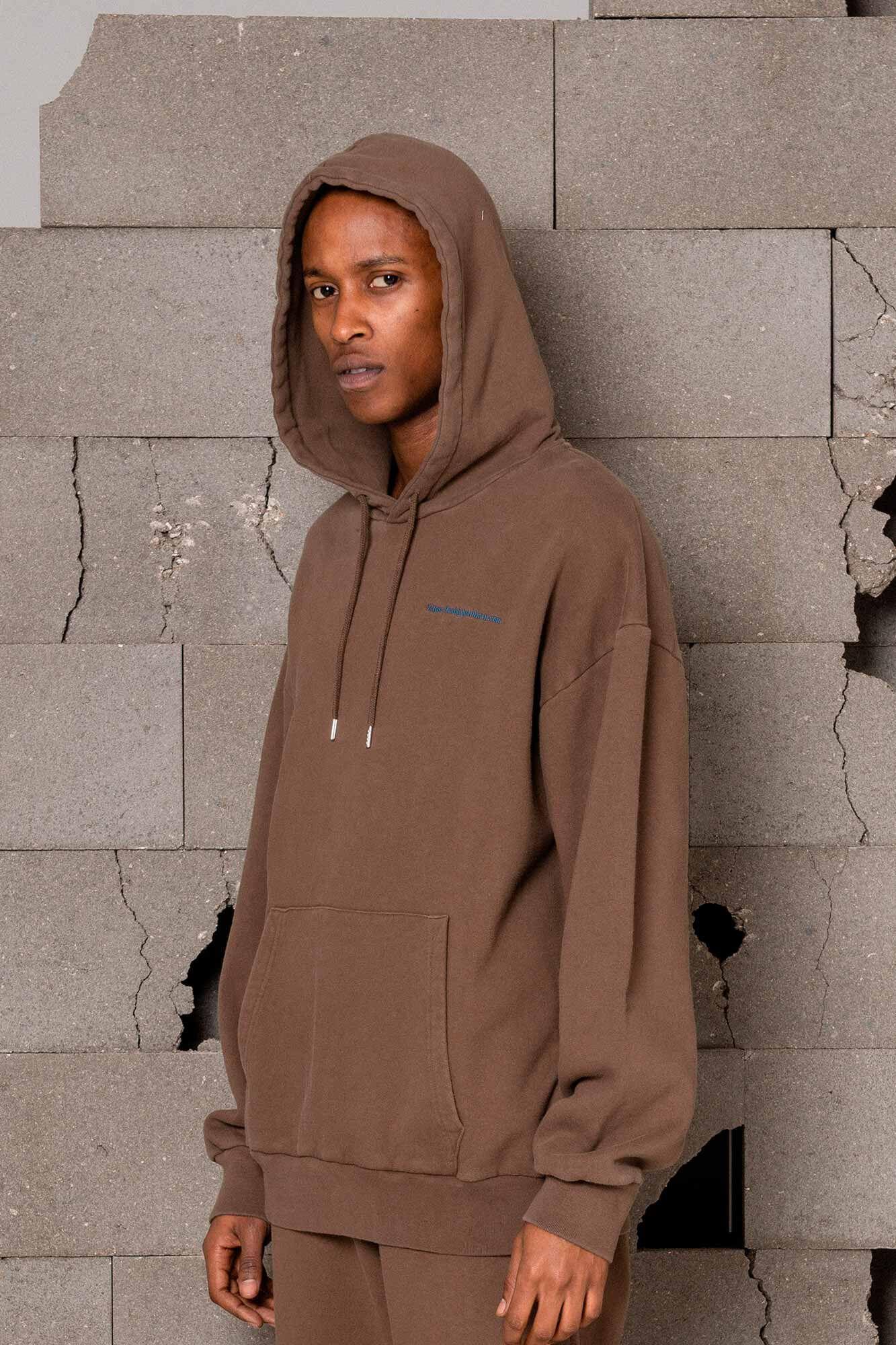 Artwork hoodie M-120067, FADED BROWN
