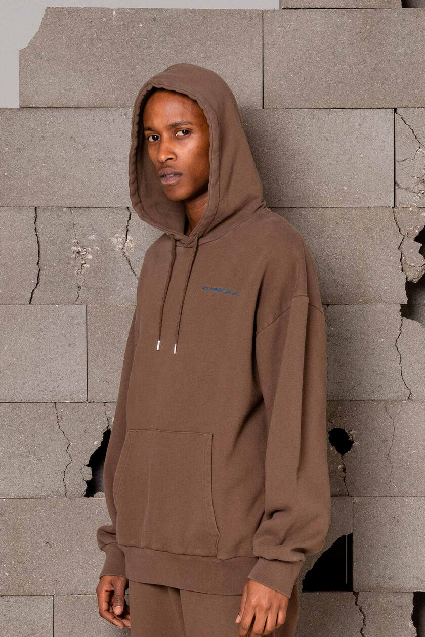Artwork hoodie M-120067, FADED BROWN