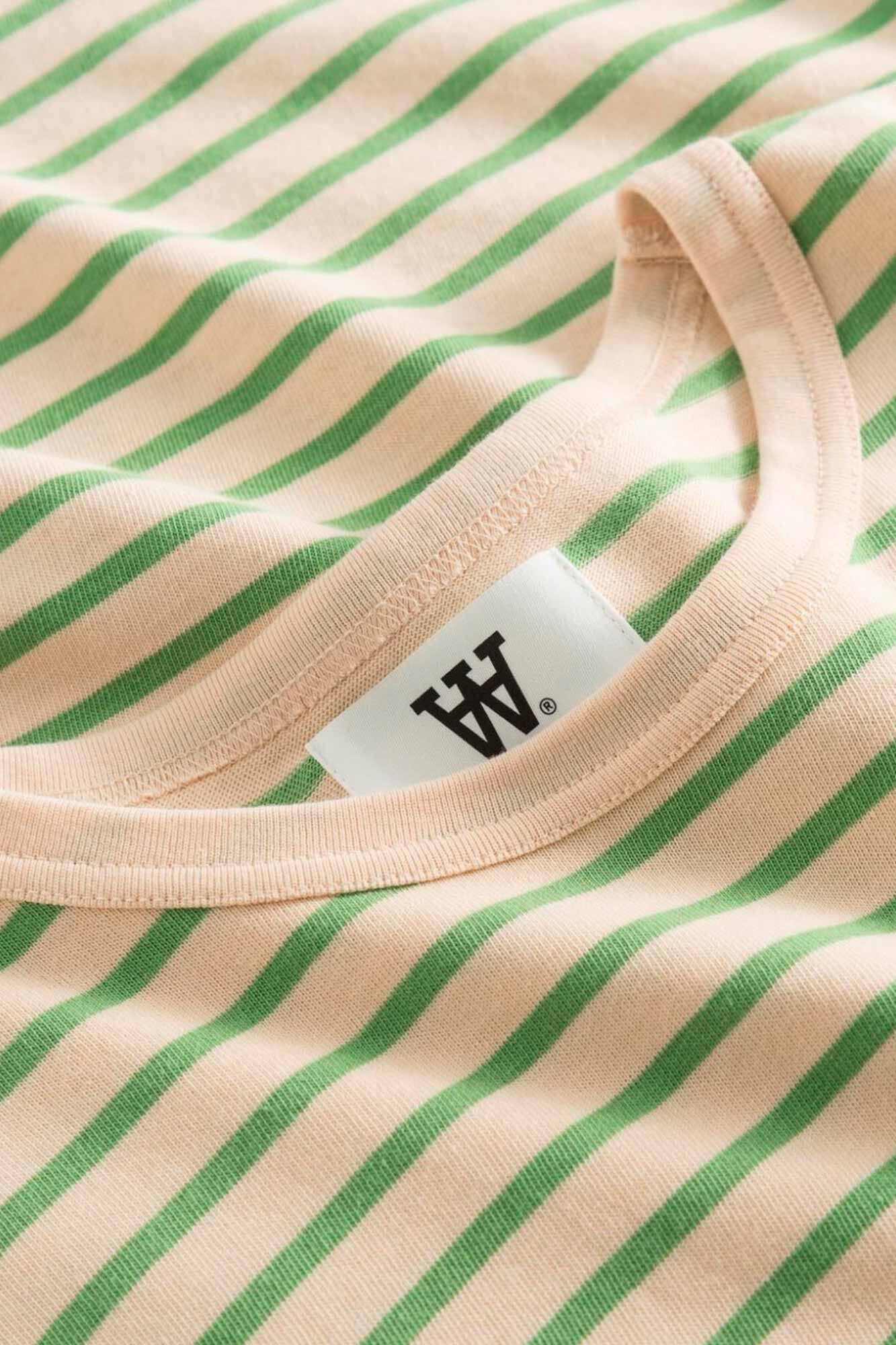 Moa long sleeve 10921500-2323, OFF-WHITE/GREEN STRIPES