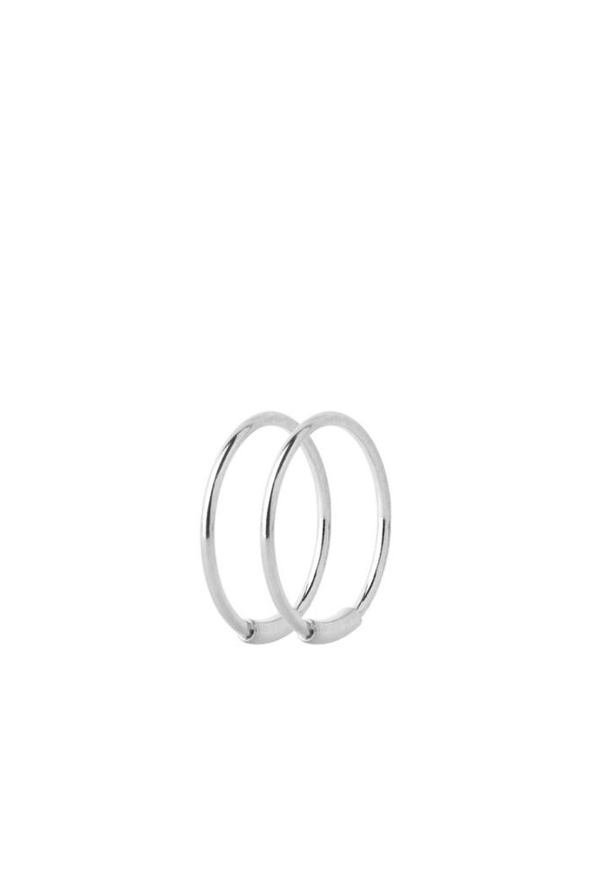Basic Hoop S Earring 100219, SILVER HP