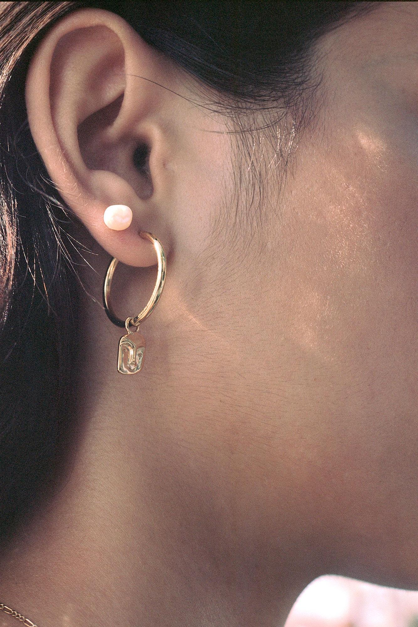 Ray earring 100705YG, GOLD HP