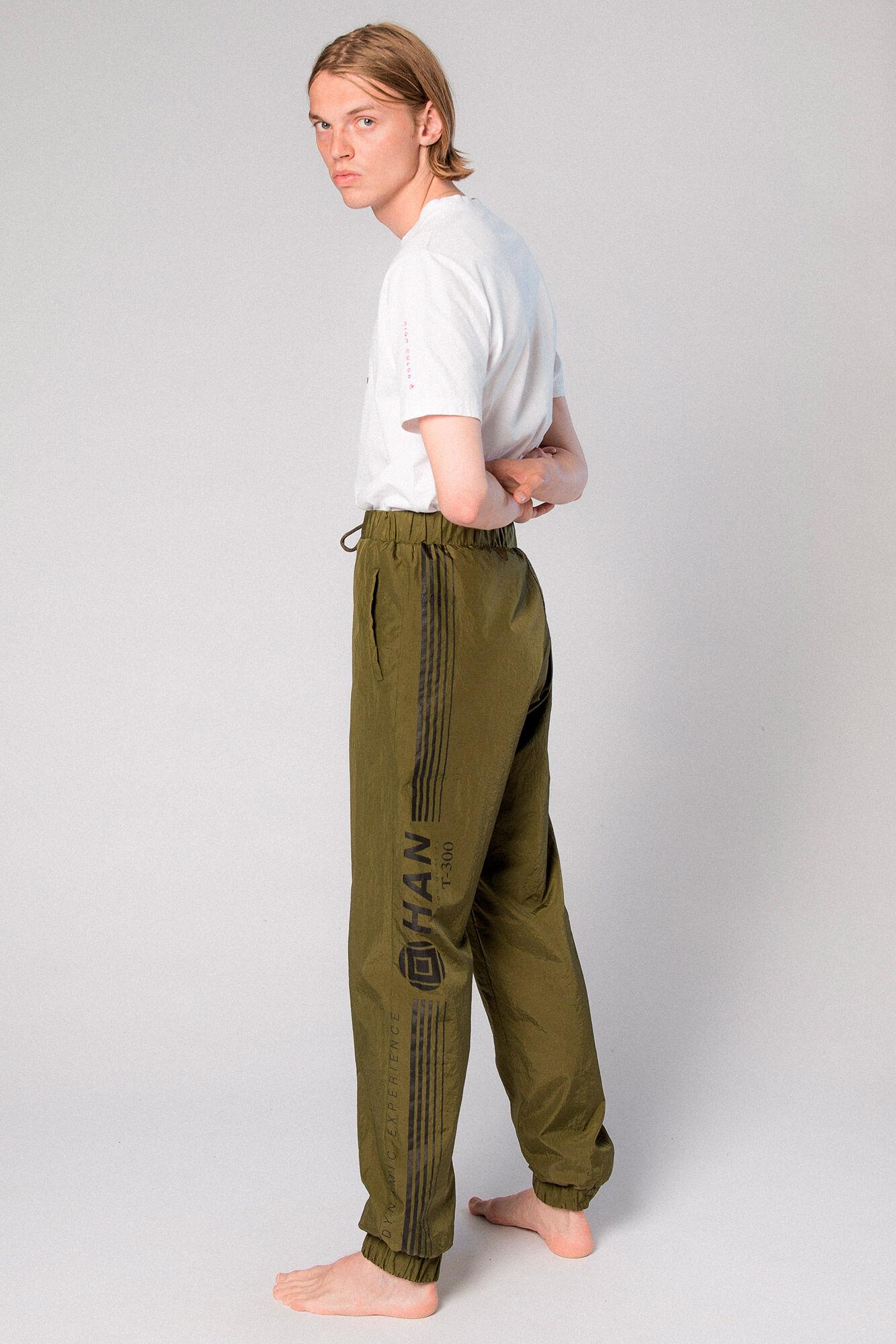 Track Pants M-110075, OLIVE CRISP