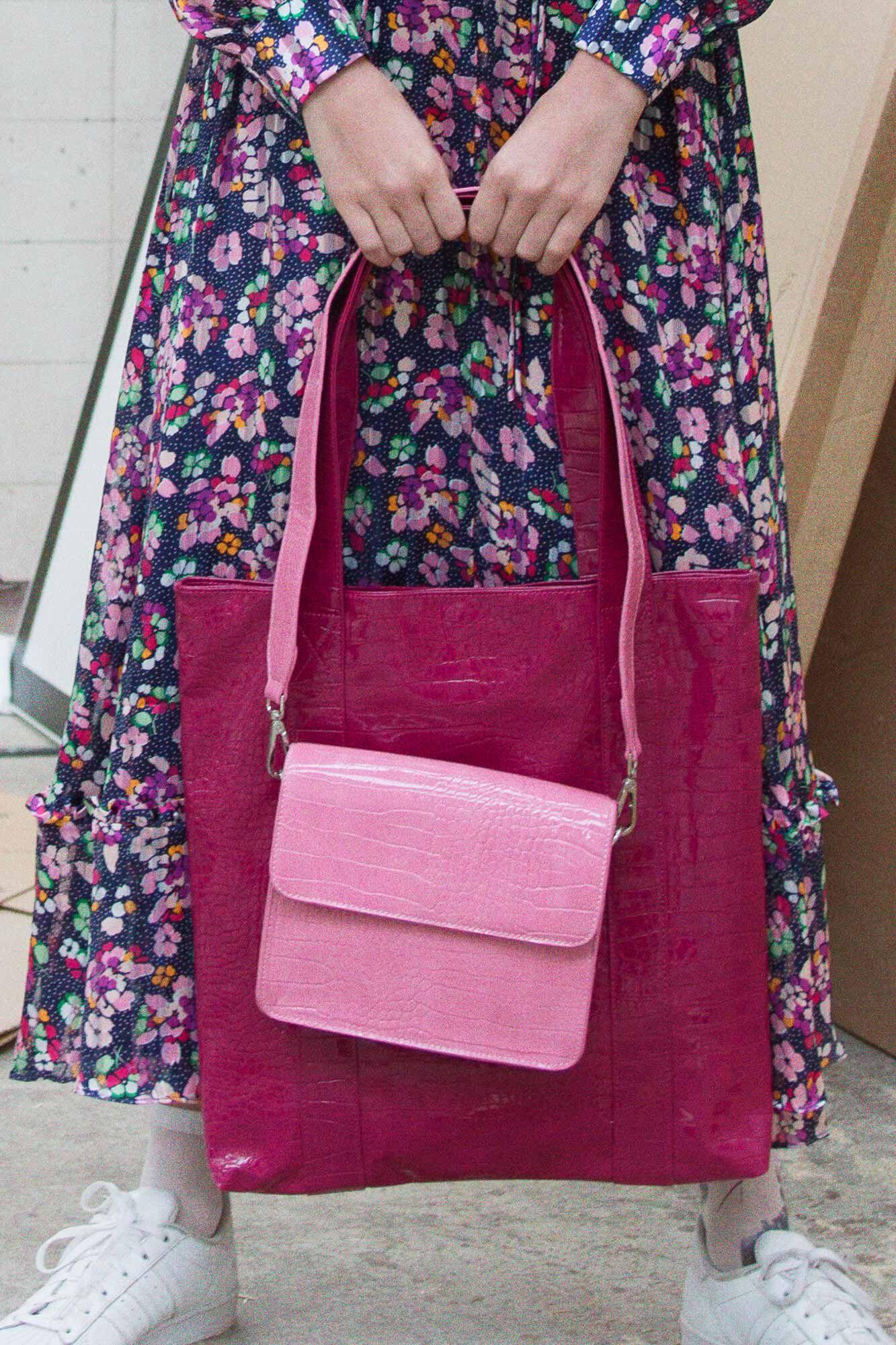 Cayman shiny strap bag H1021, PASTEL PURPLE