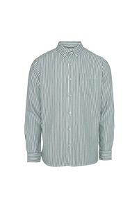 Striped twill shirt 90720, BISTRO GREEN