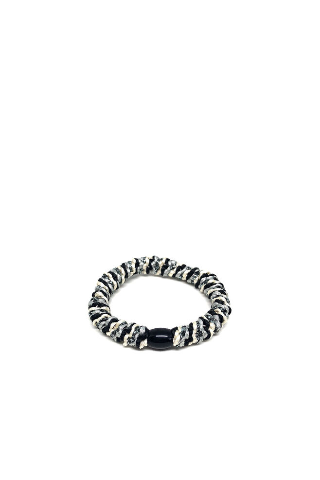 Bystær hairties 9799207, MULTI BLACK/WHITE/GREY SILVER