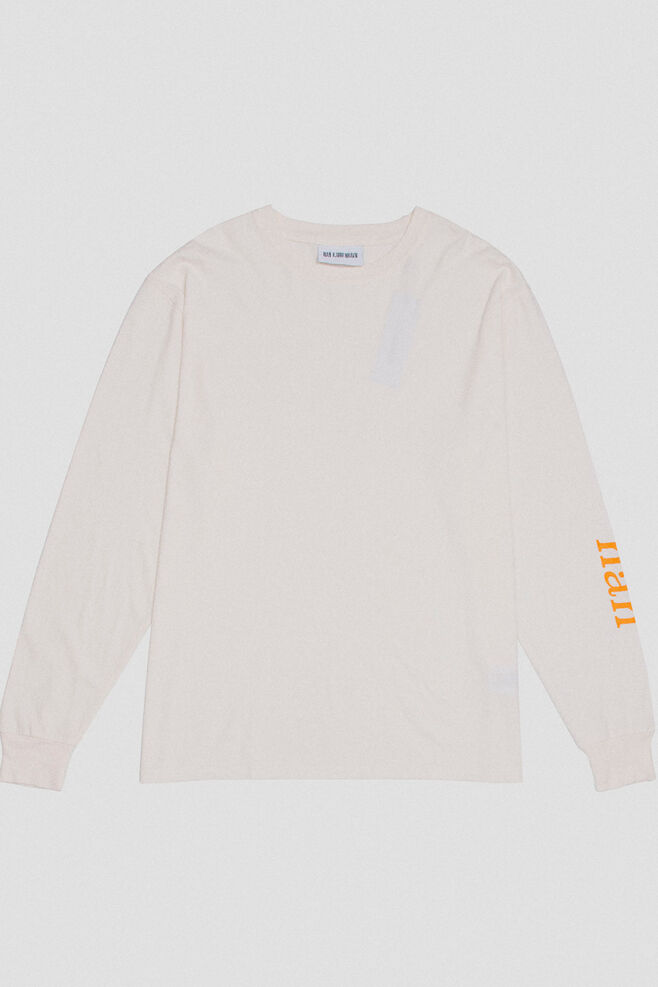 Boxy tee long sleeve M-110106, OFF WHITE