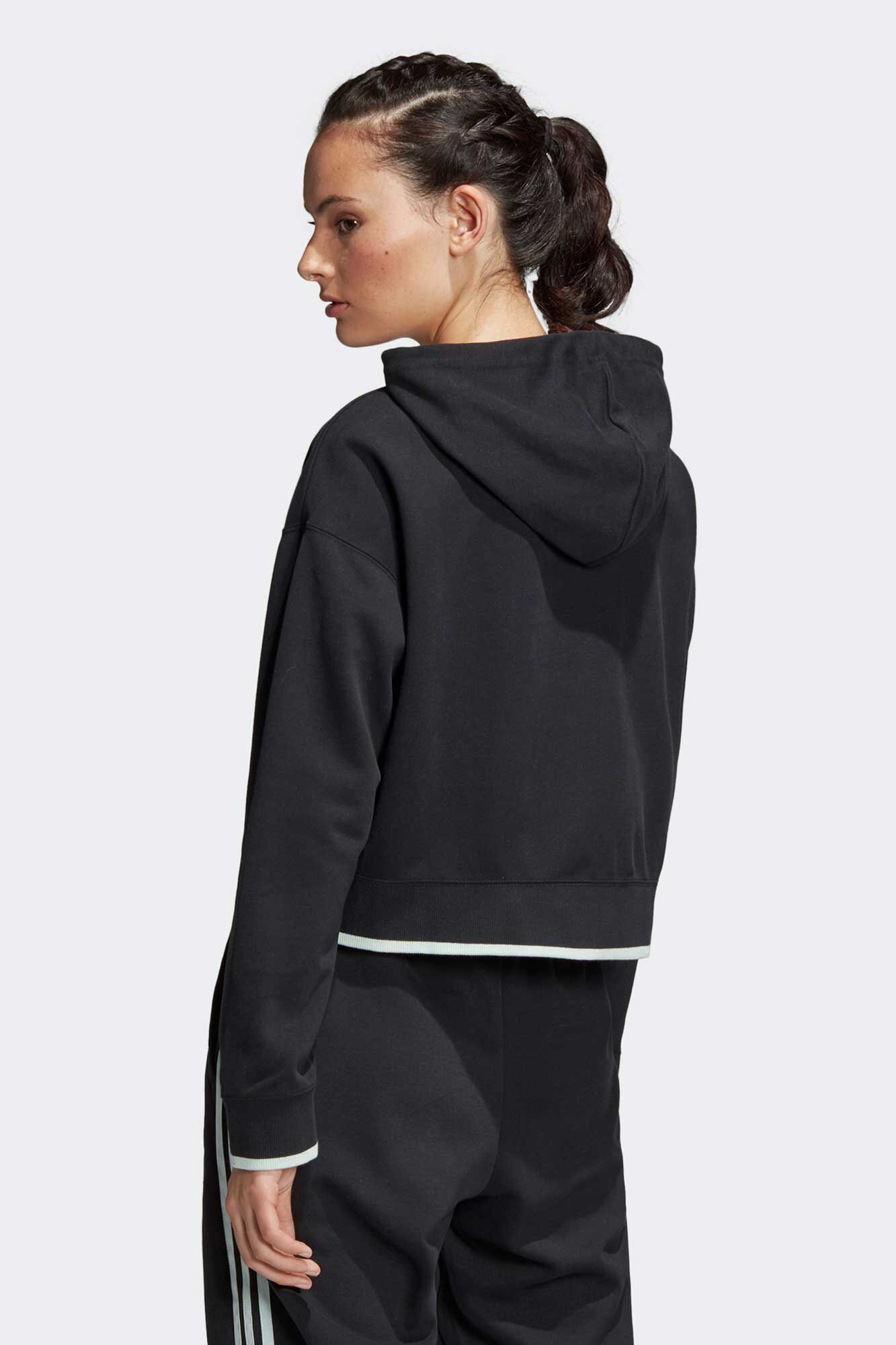 Cropped hoodie DU9927, BLACK