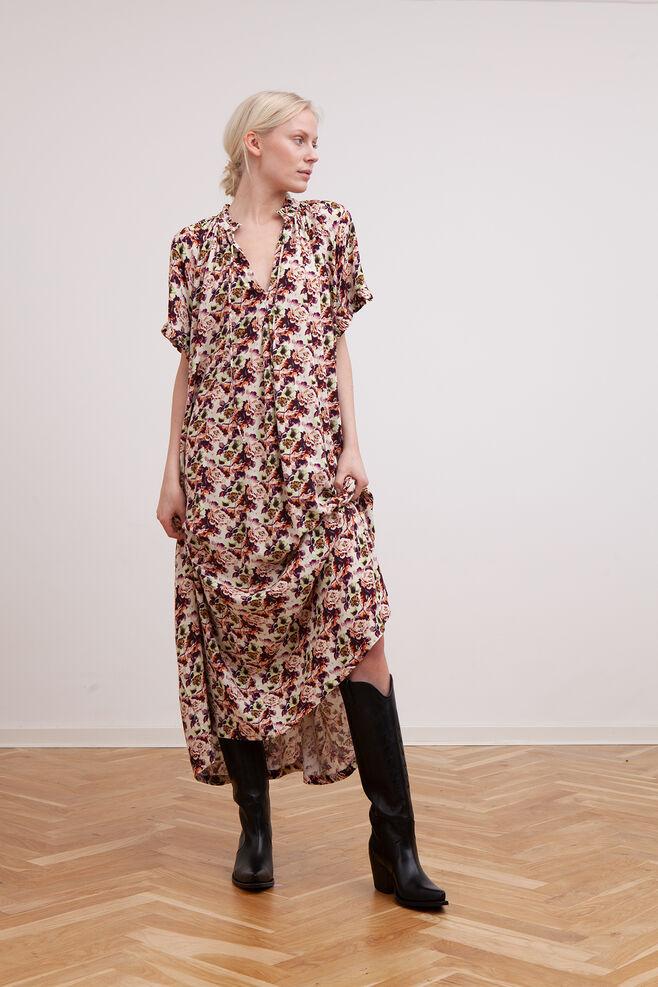 Lakyn long dress 3200603, LIME FLOWER
