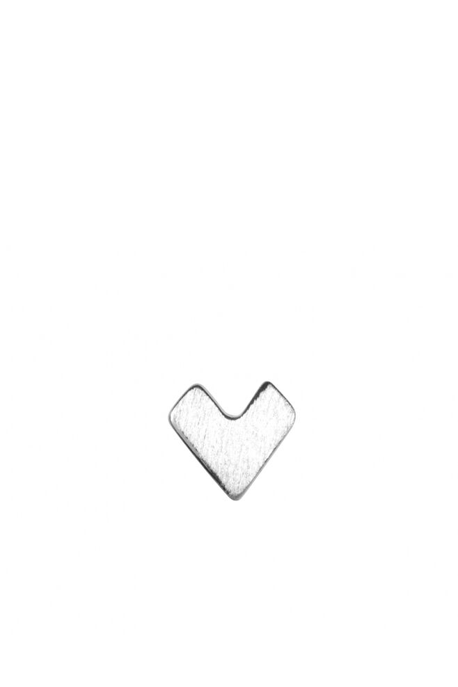 Pixel Love Ear Studs LULUE168, SILVER MATTE
