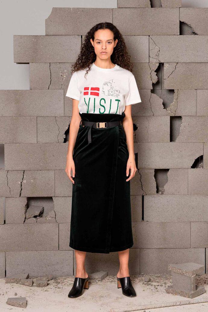 Buckle skirt F-120050