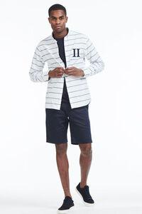 Leperie Shirt LDM410028, WHITE/NAVY
